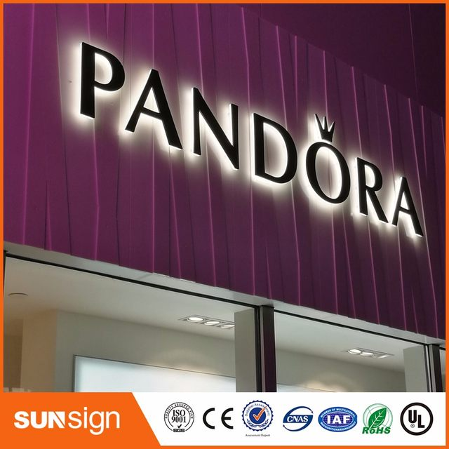 Aliexpress Factory Outlet Outdoor Metal Letter Lights Illuminated Business Signs For Restaurant