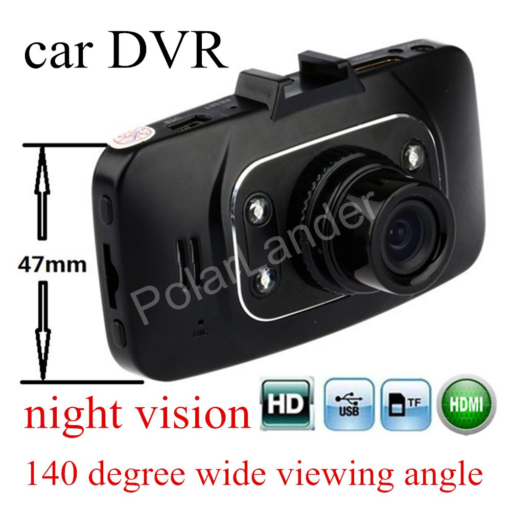 HD GS8000 Car Camera Recorder 2.7 inch LCD G-Sensor HDMI Night Vision Car DVR circle recording 140 degree wide viewing angle