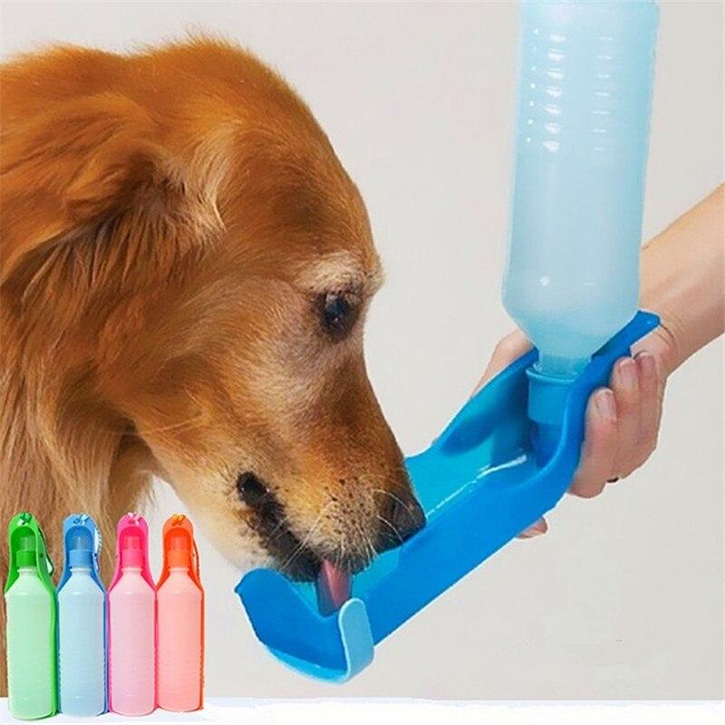 250ML 500ML Outdoor Portable font b Pet b font Dog Water Bottles Foldable Tank Drinking Design