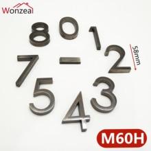 58 мм 0123456789 современный номер двери серая табличка дверная табличка номер дом номер отель дверь адрес стикер с цифрами знак ABS пластик