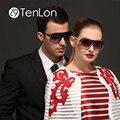TenLon Очки Мода большой кадр покрытие очки винтаж прохладный высокое качество солнцезащитные очки женщины óculos de sol мужской Анти UV400