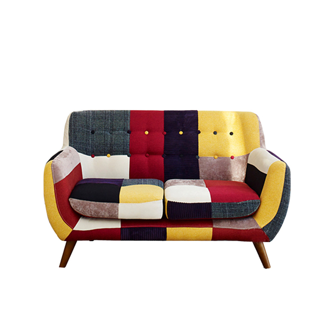 Contemporary Double Sofa Couch Fabric Cover Upholstery Furniture Modern Design Latest Home Living Room
