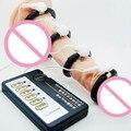 Поражения электрическим Током Пенис Кольцо Черный Силиконовый Пенис Cockring Задержка Эякуляции Импульса Физической Терапии Эректильной дисфункции I9-1-22