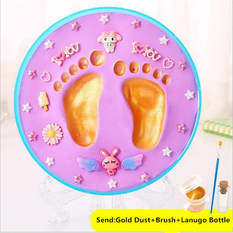 8PCS/Set DIY Baby Souvenir Handprint Footprint Soft Clay Baby Non Toxic Eco-Friendly 3D Footprint For Newborn Gift