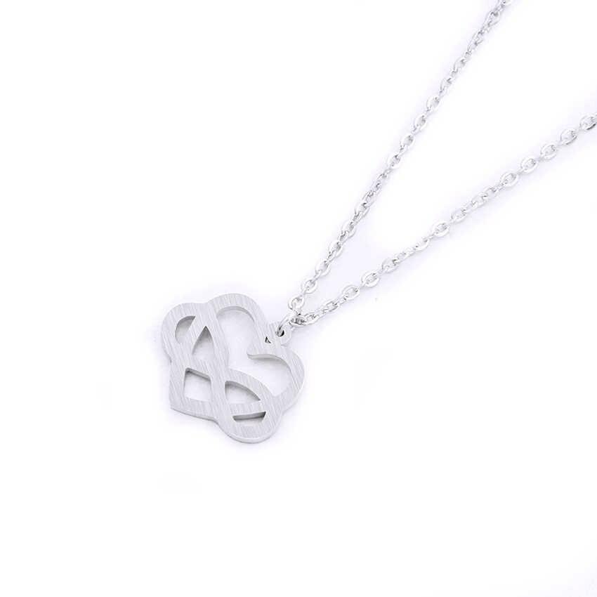 Thời trang Infinity Tim Vòng Cổ Cho Lứa Đôi Thép Không Gỉ Chain Choker Tình Yêu Hearts Chúc May Mắn 8 Promise Jewelry Món Quà Phù Dâu