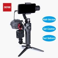 Zhiyun Smooth 4 Gimbal 3 Axis Handheld Stabilizer Camera Mount for iPhone & Samsung & Huawei & Mi & Gopro Action Camera Gimbal