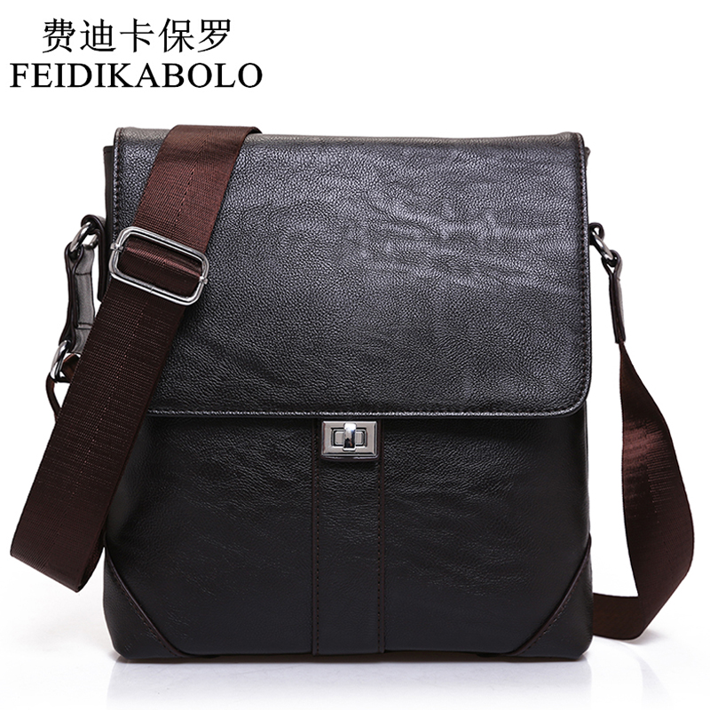 FEIDIKABOLO New Men Casual Leather Messenger Bag Men Bag Fashion Male Cross Body Bag Retro Business Shoulder Bag Handbags Men new trend sale men s genuine leather business casual messenger shoulder bag tablet satchel cross body book bag black t0985
