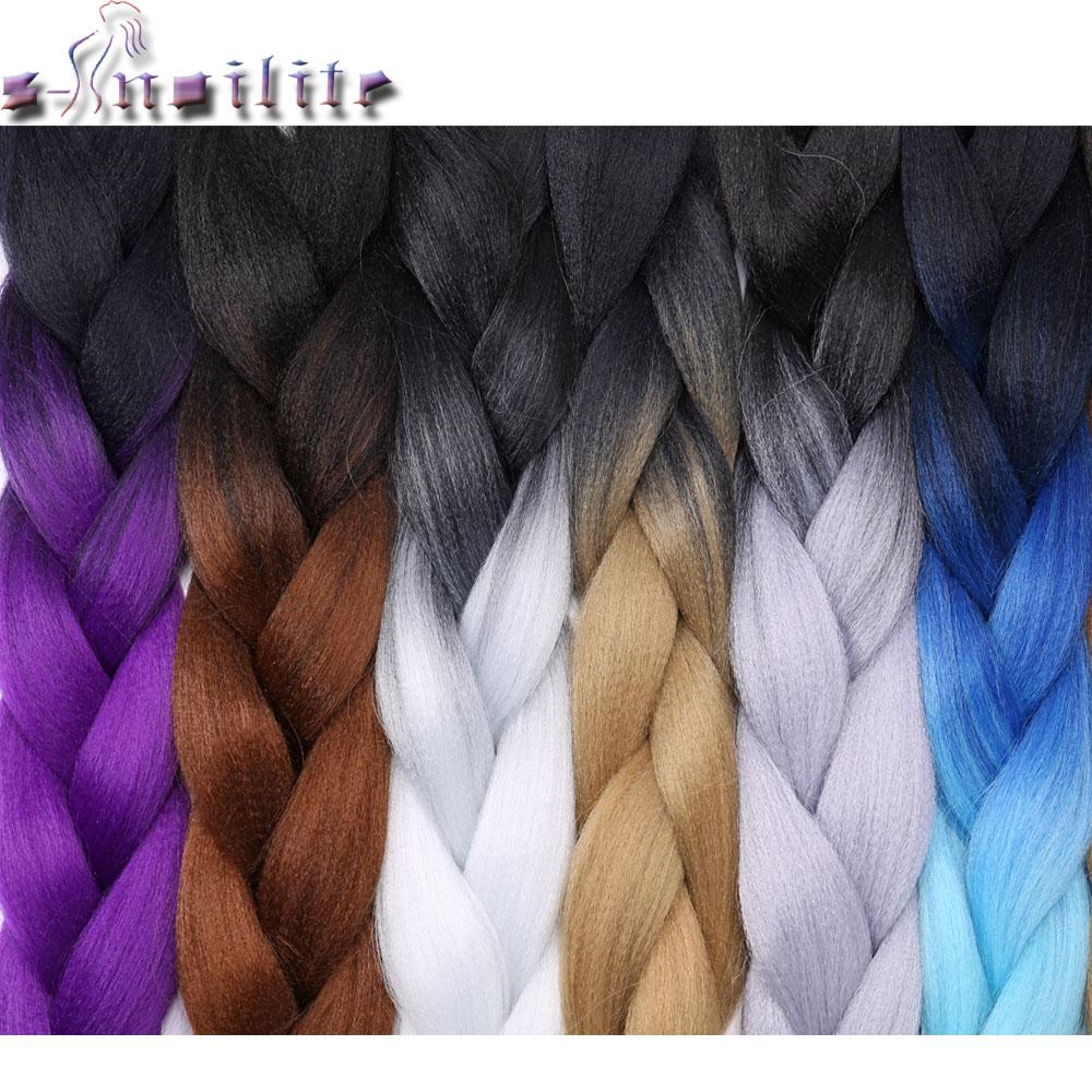 Low Cost S Noilite 2 3 4 Tone Ombre Kanekalon Jumbo Braids Hair