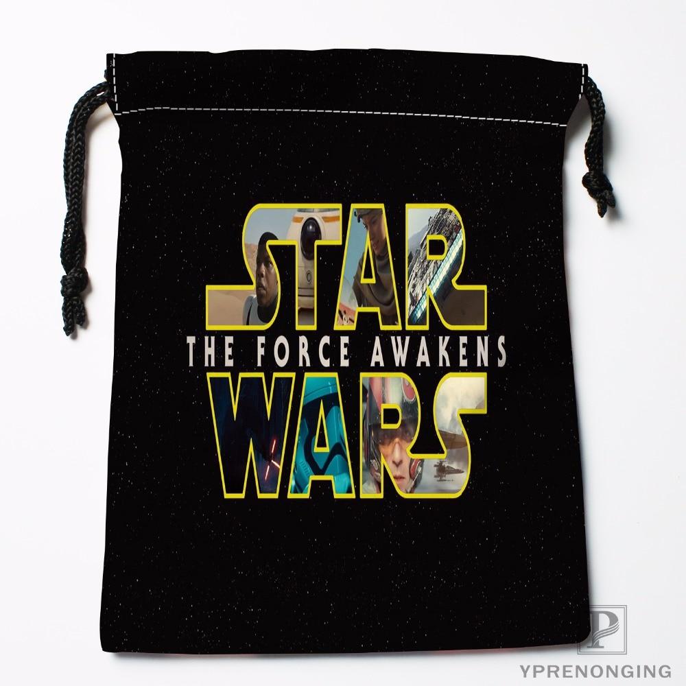 Custom Star Wars Drawstring Bags Travel Storage Mini Pouch Swim Hiking Toy Bag Size 18x22cm#0412-03-37