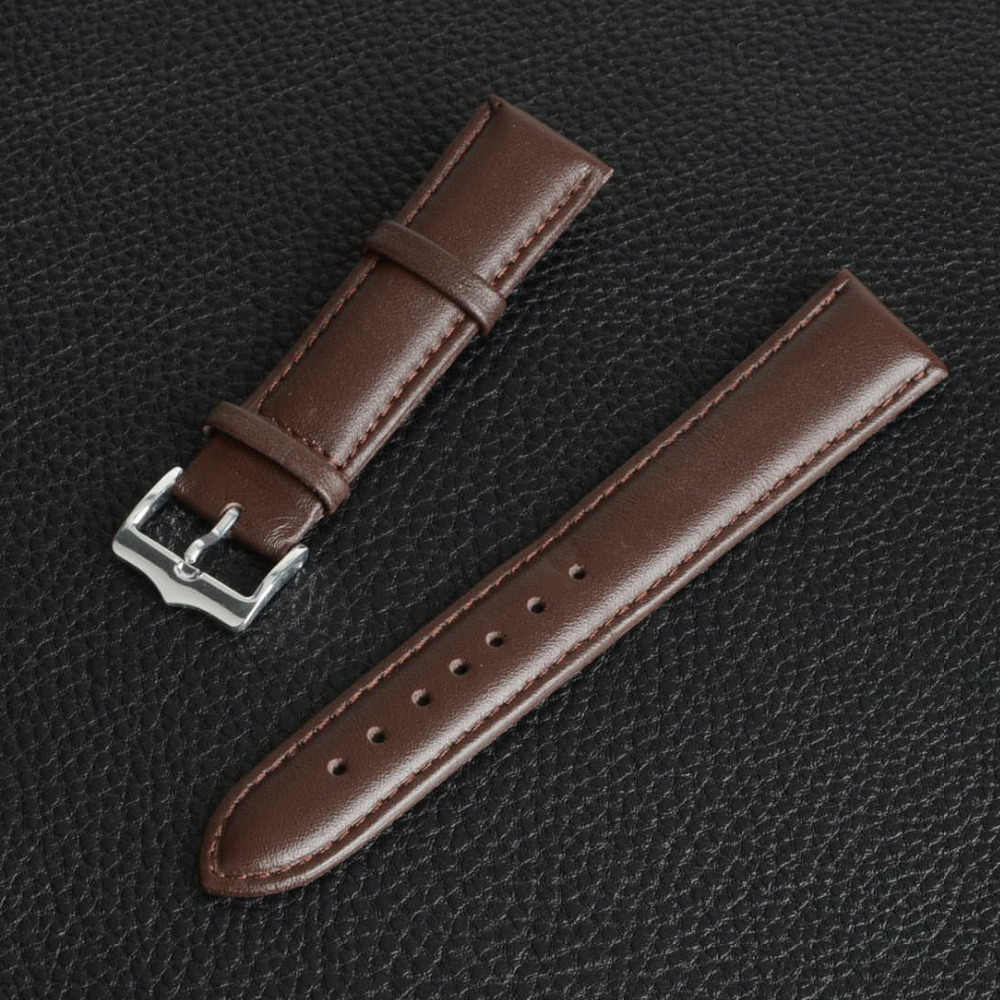 18mm Watch Band Genuine Leather Replacement Strap Watchband Coffee Brand New SB0540