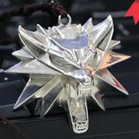 Ведьмак 3 III Твердые 925 Серебряное ожерелье Дикая Охота волк медальон Геральт ривьас ожерелье кулон
