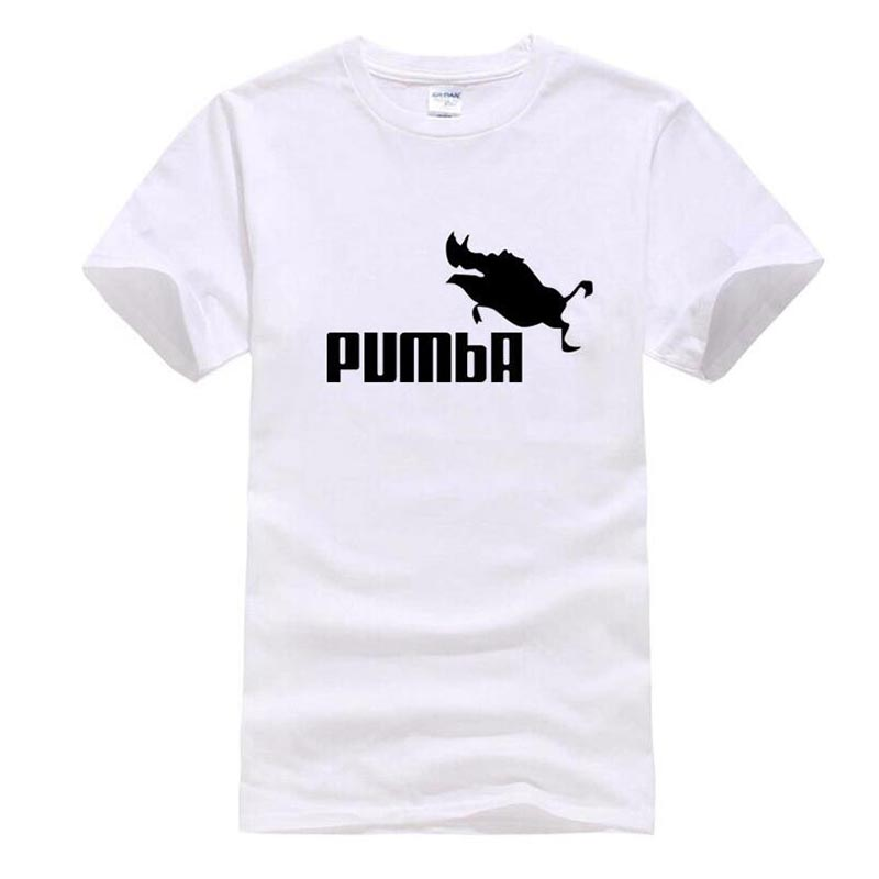 2016 new brand PUMBA Lion King t-shirt cotton tops tees men short sleeve boy casual homme tshirt t shirt plus fashion