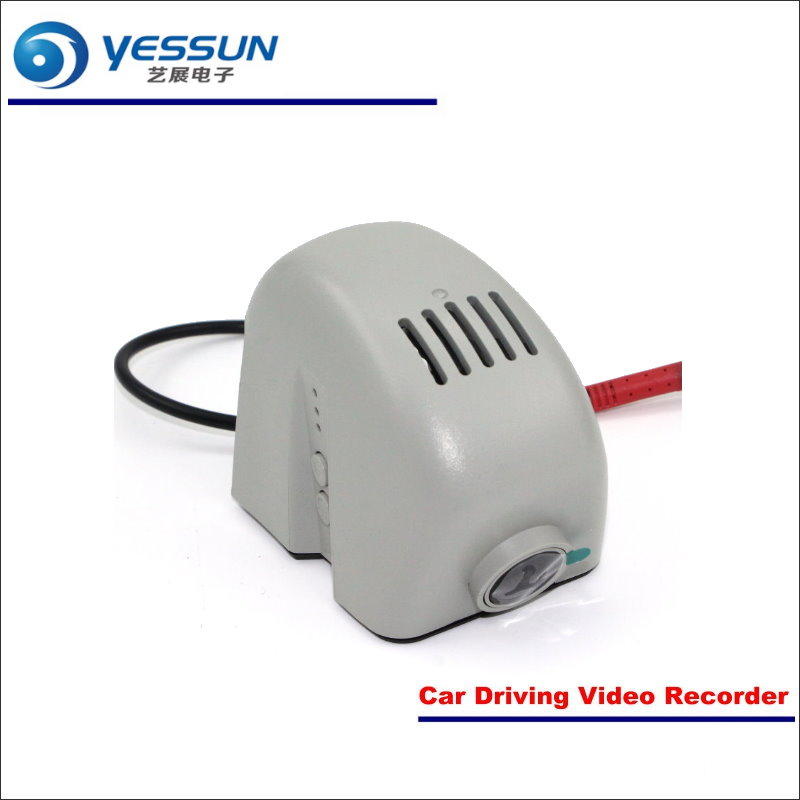 YESSUN Car Front Camera For Audi A8 2015 DVR Driving Video Recorder Black Box Dash Cam Head Up Plug OEM 1080P WIFI Phone APP bigbigroad for land rover discovery sport car wifi dvr video recorder front camera dash cam car black box night vision