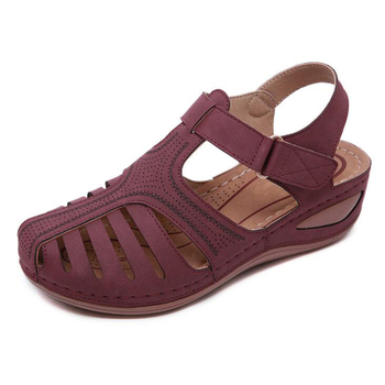 CEYANEAO   Summer women's sandals with a round toe fashionable women's beach shoes wedge shoes comfortable shoes on the platform