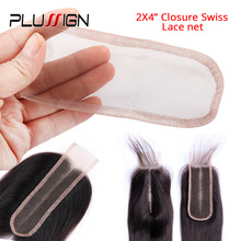 New Arrival 2*4 2*6 4*4 Swiss Lace Closure Frontal Base Hand-Woven Hair Net Piec