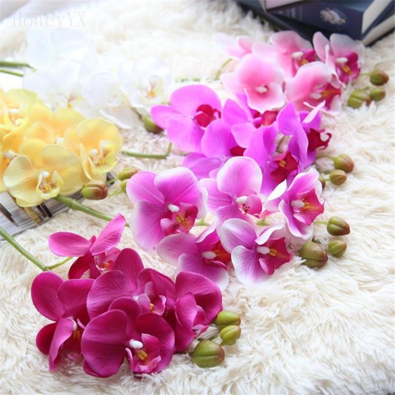 orqudeas hawaianas flores ramo de la boda ramos de novia flor artificial hogar decoracin de