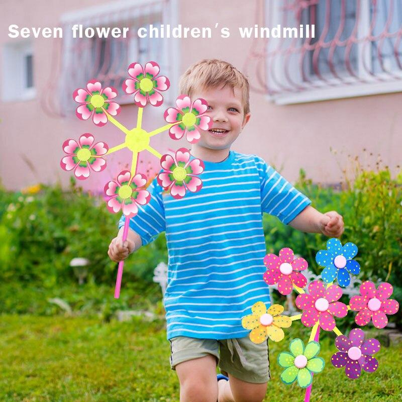 DIY Пластиковые Детские ветряные мельницы цветок ветряная мельница развлечения начинающих способность Милая Наружная игрушка открытый ребенок маленький Funny Забавный