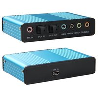 HFES Hot Blue 6 Channel External Sound Card 5.1 Surround Sound USB 2.0 External Optical SPDIF Audio Sound Card Adapter