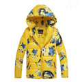 Hot!! 2016 Boys Minion Cute winter coats&Outwear,Children clothing Warm hooded kids jackets Girls coat Winter jacket&Coat