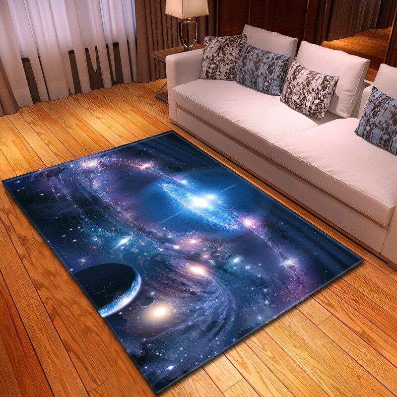 Простой таинственный Звездный ковер гостиная ковер спальня столовая ковры и ковры S для дома салон Космос галактика ковер