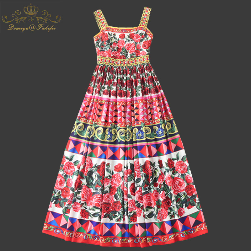 Family Clothes 2018 Brand Girls Dresses Bohemia Strap Floral Print Summer Girl Beach Dress Retro Hippie Vestidos Elegant Dress viven leigh boho floral print long dress retro bohemian maxi dress sexy ethnic deep v neck beach dresses hippie robe