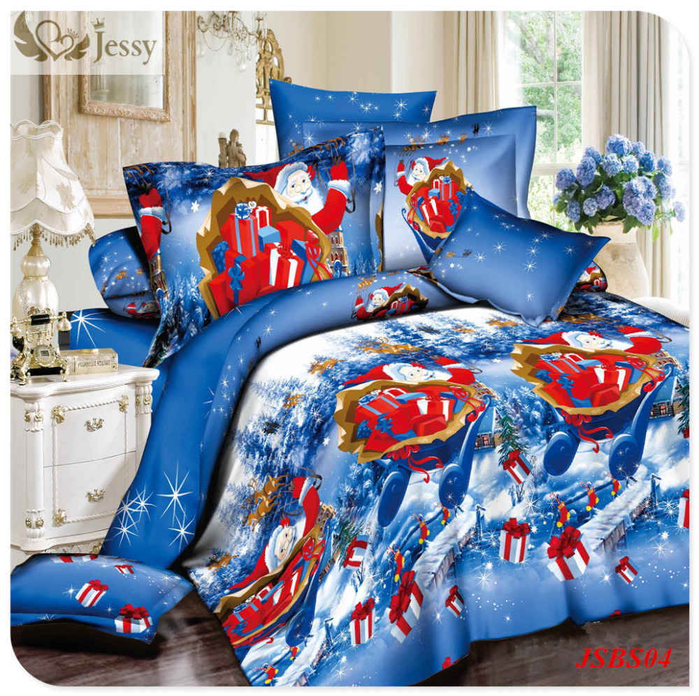Christmas bed linens for gift 3d christmas bedding sets for Super cheap bedroom sets