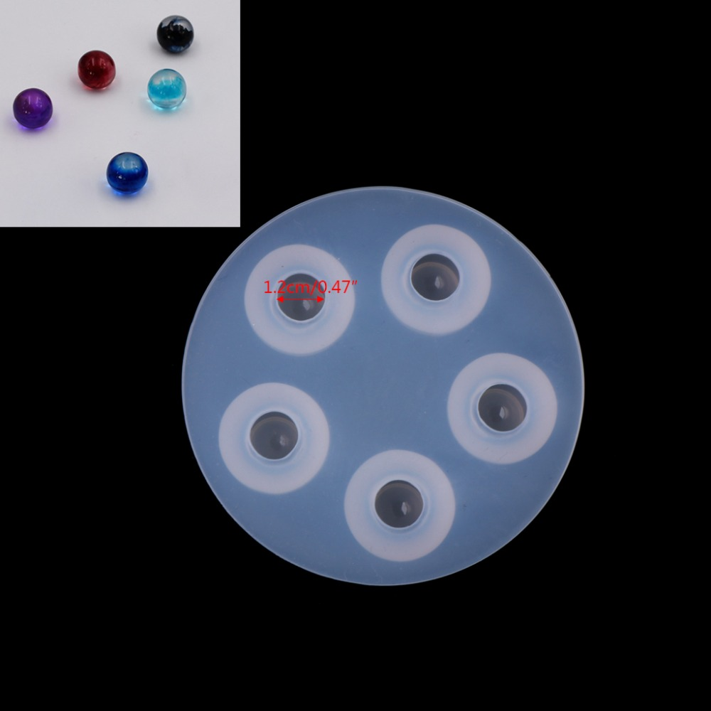 JAVRICK 1PC 2017 Top Selling Clear Silicone Necklace Pendant Jewelry Mold Casting Making DIY Resin Craft  Ball Shape Mold 12mm