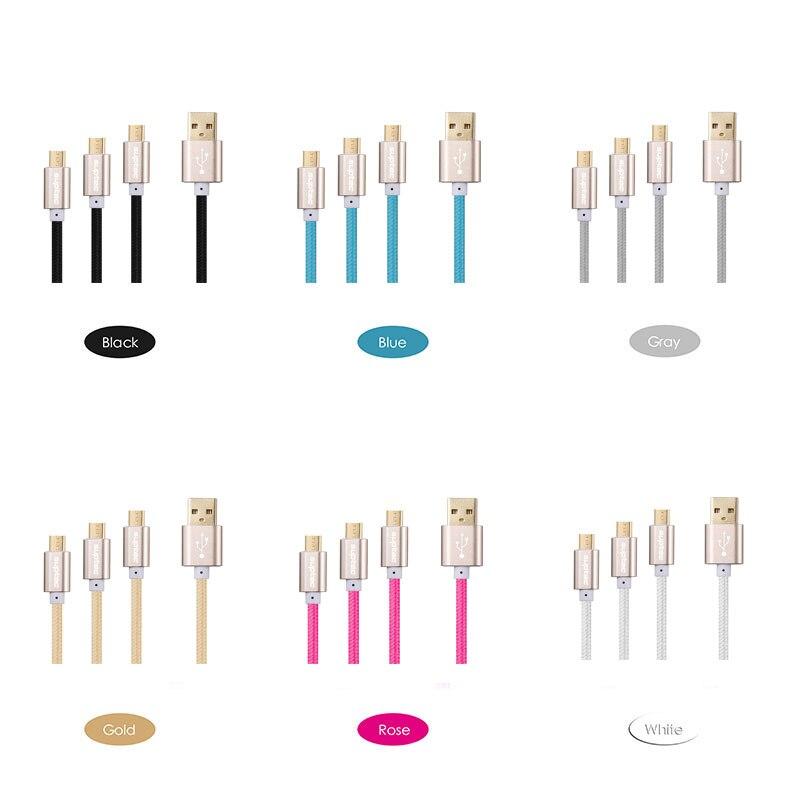 3 փաթեթ 25 սմ 1 մ 3 մ միկրո USB մալուխ արագ - Բջջային հեռախոսի պարագաներ և պահեստամասեր - Լուսանկար 4