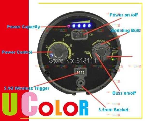 Nicefoto n600 600 Вт X 2 Мобильная Студия стробоскоп комплект для вспышки поместить его Батарея Беспроводной триггер