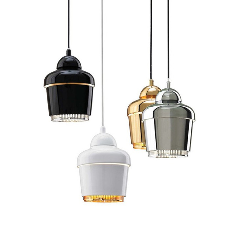 Postmodern Spain Nordic Bar Restaurant Cafe Iron ChandelierCreative Crown  Personality Hanging Light With Led Bulbs