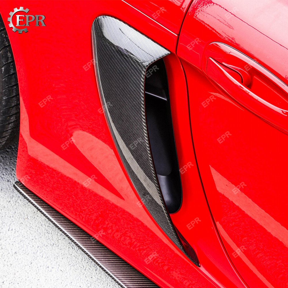 For Porsche 981 Cayman Carbon Fiber Duct Vents Body Kit Auto Tuning Part For Cayman 981 Side Air Tntake Carbon Duct Vents