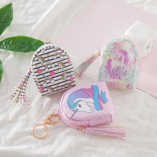 6f48709767bc2e Fashion Women PU Unicorn Mini Wallet Card Key Holder Zip Coin Purse Clutch  Bags