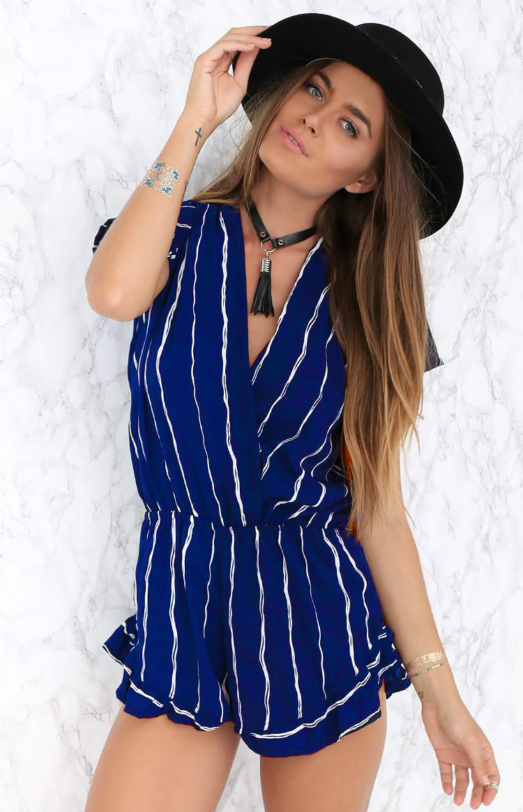 a6da407c764 chiffon printing romper womens Summer playsuits 2016 cute Casual Vintage  Short Rompers Womens Jumpsuit-in Rompers from Women s Clothing on  Aliexpress.com ...