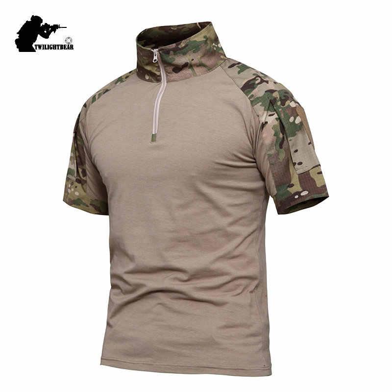 군사 위장 전술 TShirt 개구리 양복 짧은 소매 브랜드 캐주얼 전투 T 셔츠 남자 여자 훈련 셔츠 4XL AFPLY53