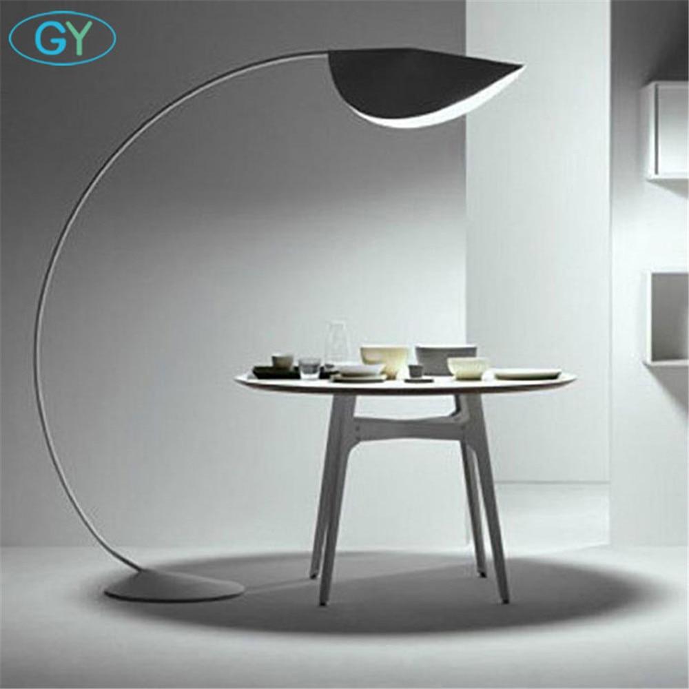 Průmyslový projekt Art Dekorace stojací lampa Moderní návrhář stojící světlo černá žlutá bílá led rybářské žárovky pro obývací pokoj