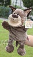 Vendita calda 1 pz 30 cm storia timber wolf burattini di mano con i piedi gioco peluche bambola di pezza regalo infantile