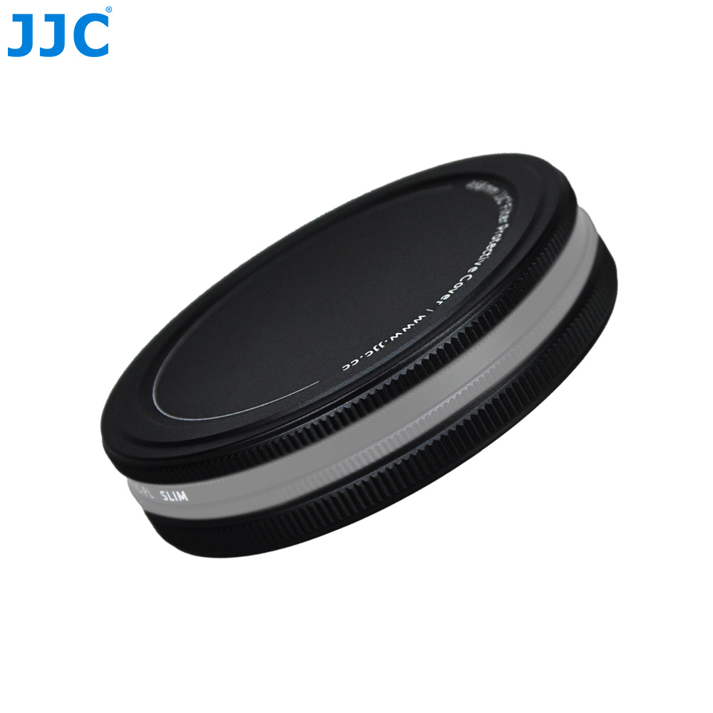 JJC UV CPL ND Filters Metal Case Storage Box 37/40.5/43/46/49/52/55/58/62/67/72/77/82mm Lens Filter Stack Cap Protector