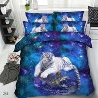 Royal Linen Source Brand 3 PCS PER SET White Tiger Guarding the World 3d animal bed set 3d luxury bed set