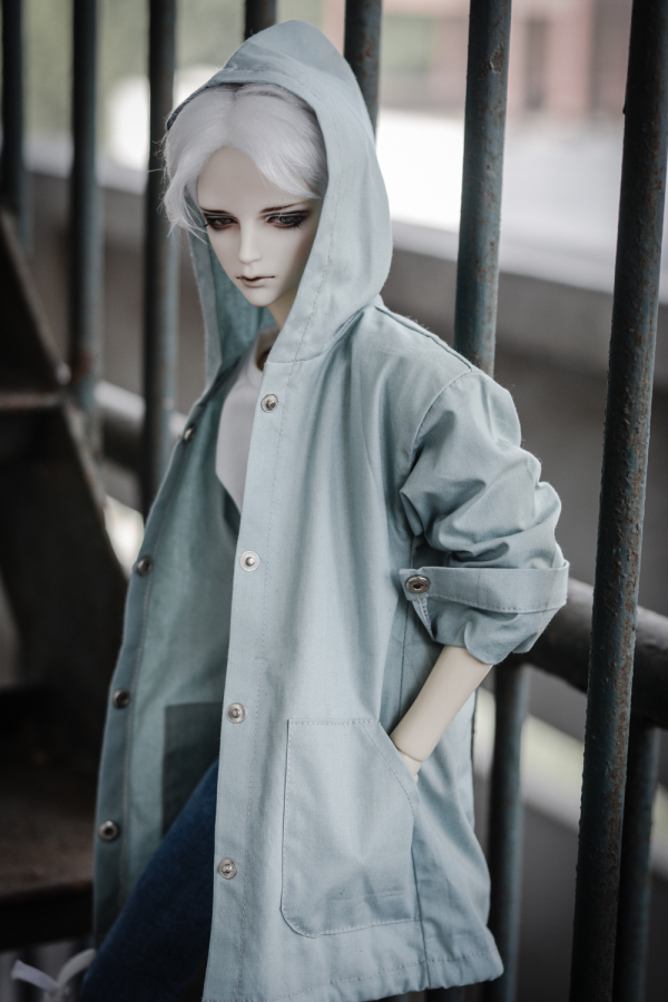 Hooded woolen coat For BJD 1/3  ,SD17 ,UNCLE Doll Clothes Accessories pencil pants casual pants for bjd sd17 sd13 1 3 uncle doll clothes accessories