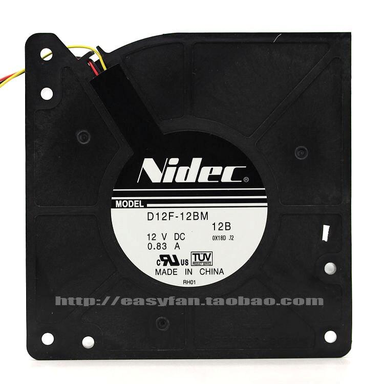 NEW NIDEC D12F-12BM turbine Blower 12V 0.83A cooling fan new nidec v60e12bma7 07 6038 12v 0 65a 6cm 4pin server cooling fan