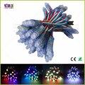(50 шт./лот) DC5V WS2811/LPD6803/WS2801IC/DMX512 необязательно светодиодные строка led pixel модуль 12 мм RGB Цифровой Полноцветный WaterproofIP68