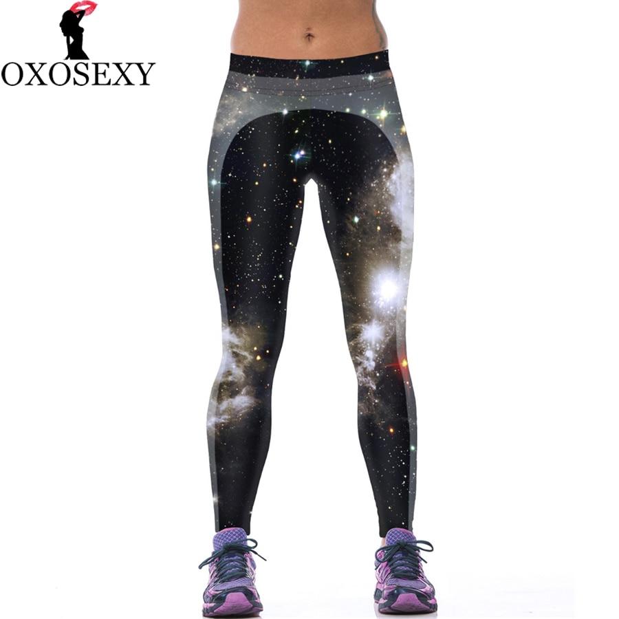 Autumn winter Lycra Galaxy font b women b font leggings printed fitness font b Women b