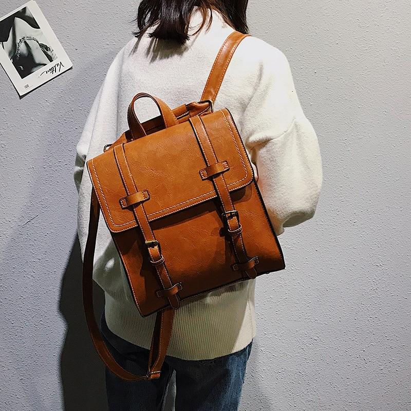 Fashion Women pu Backpack High Quality Youth Leather Backpacks for Teenage Girls Female School Shoulder Bag Bagpack Girl Mochila