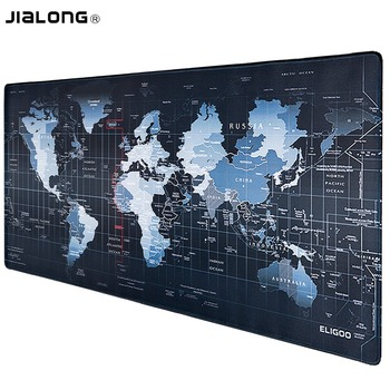 JIALONG World Map Pattern Gaming Mouse Pad Large Computer Mause Pad Notebook Gamer Mousepad Gaming Mouse Mats for Men Gamer Gift