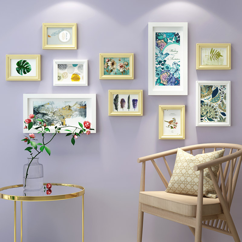 Multi Frame Solid Wood Painting For