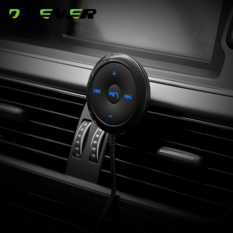 Onever Car 3.5mm Bluetooth Receiver Music Audio Receiver Adapter Hands-free Car Kit A2DP Streaming Kit Support AptX Decode