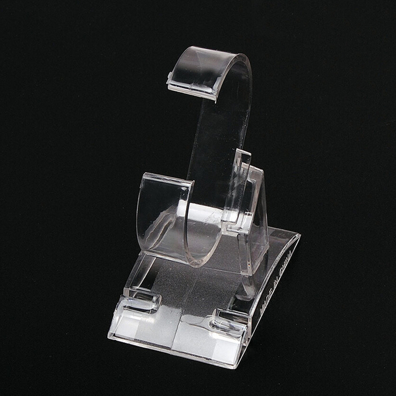 Practical Wrist Watch Display Rack Holder Sale Show Case Stand Tool Clear Plastic