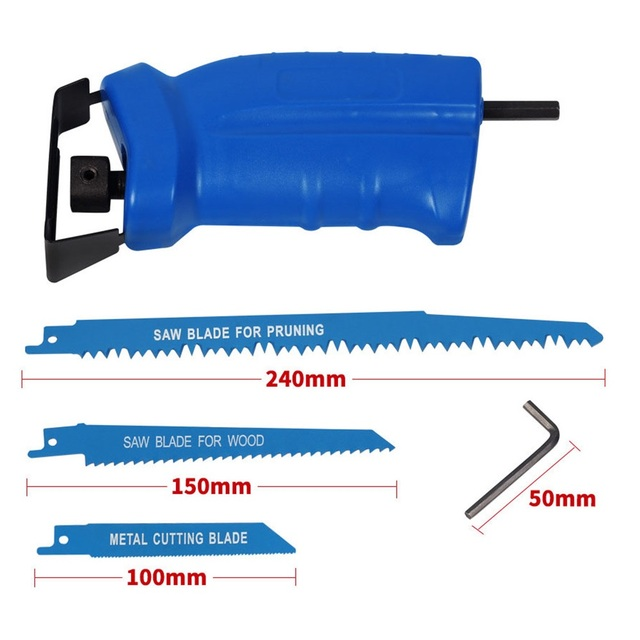 ALLSOME Reciprocating Saw Metal Cutting wood Cutting Tool electric drill attachment with 3 blades Power Tool Accessories HT1569 1