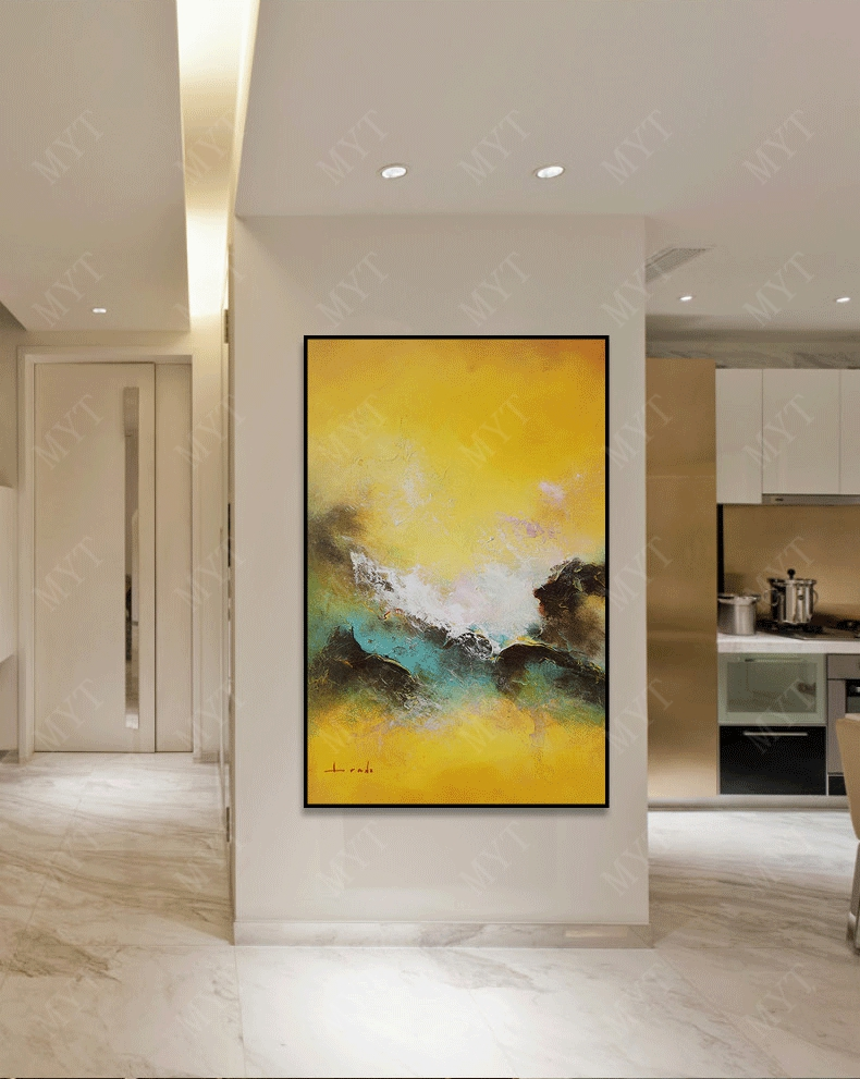 MYT Free Shipping Big Size Hand Painted Cock Animal Oil Painting On Canvas Pop Art Modern Abstract Wall Art Picture For Kitchen