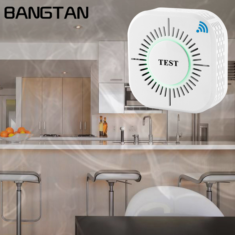 High Sensitive Standalone 433MHz Wireless Smoke Detector Fire Alarm Sensor with Buzzer for Indoor Home Security Technology wireless vibration break breakage glass sensor detector 433mhz for alarm system
